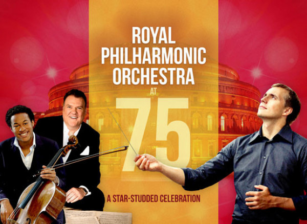 An artwork of Royal Philharmonic Orchestra at 75