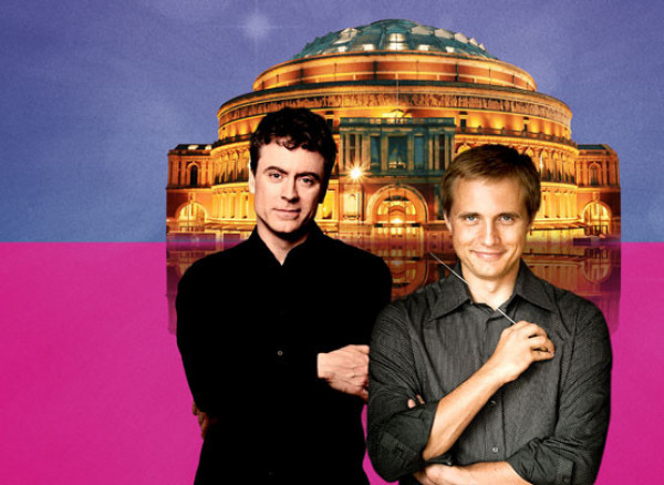 An image of Paul Lewis and Vasily Petrenko at the Royal Albert Hall